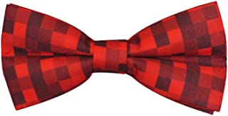 Red Pixelated Ready To Wear Bow Tie for Men