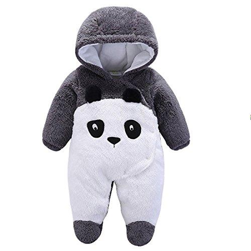 Gaorui Newborn Baby Jumpsuit Outfit Hoody Coat Winter Infant Rompers Toddler Clothing Bodysuit Cartoon Panda