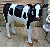 XL KALB lebensgross 120cm Premium Gartendeko~Kuh~Gartendekoration Figur DEKO~Garten