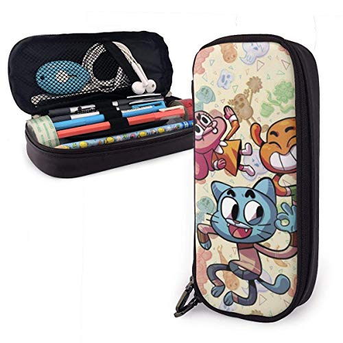 maichengxuan The Amazing World Gumball Pencil Case Large Capacity Pen Pouch Kids Boys Girls Cute Pencils Bags with Zipper Adults Office Products Holder Box