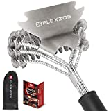 Flexzos Effortless Bristle Free BBQ Grill Brush with Steel Scraper | Safe for All Grills Types &...