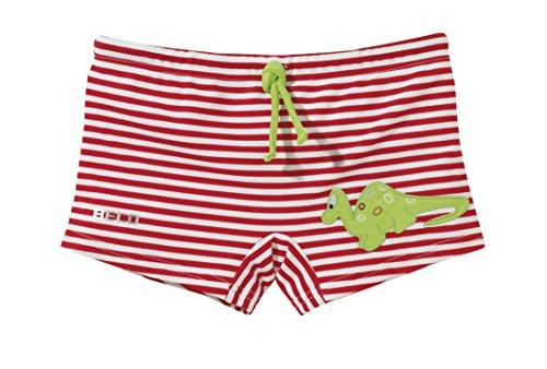 Beco Jungen Badehose Dino-Aqua, Rot/Weiß/Grün, 92