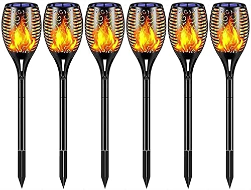 SKYWPOJU Solar Light Outdoor, Tiki Torches with Flickering Flame,...