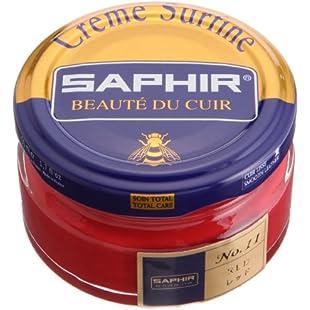 Saphir Cream Surfine Shoe polish 50 ml - (11) Red, 1.69 Oz