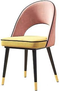 FDN Cocina Sillas De Comedor,para Sillas De Comedor Y Sala De Estar Asiento Y Respaldo Acolchados De Terciopelo Suave Estilo Vintage Dining Chairs Sillas de Comedor (Color : Pink)