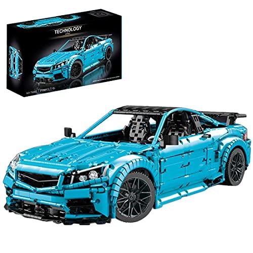 ZCXX Juego de construcción de coche deportivo, 4129 piezas, coche de carreras MOC, juego de construcción con bloques de sujeción, compatible con Lego Technic