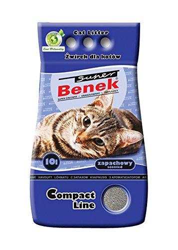 Super Benek Litière pour Chat en Argile bentonite 10 l