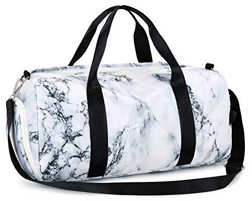 Weekender - Bolsa de viaje para mujer con compartimento para zapatos, impermeable, nailon