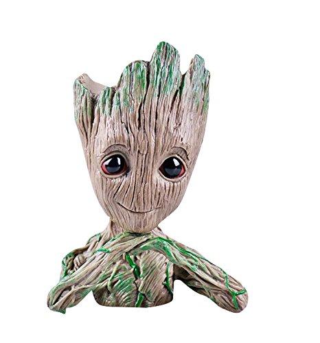 thematys Baby Groot Blumentopf - Innovative Action-Figur für Pflanzen & Stifte aus dem Filmklassiker I AM Groot (C) 14x11x7cm