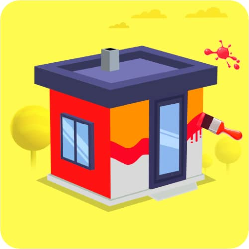 House Color Paint Roller Swipe - Maze Painting Puzzle Game