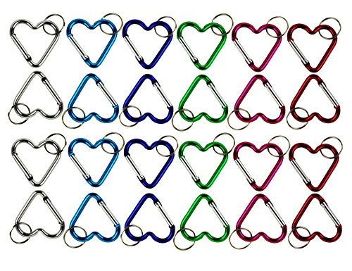 Lot of 24 Carabiners Heart Shaped A…