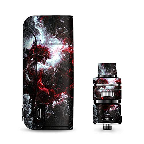 IT'S A SKIN Decal Vinyl Wrap for Vaporesso Armour Pro Cascade Tank Vape Sticker Sleeve Cover/Universe Red White