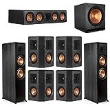Klipsch7.1 Ebony Home Theater System - 2 RP-8000F, 1 RP-504C, 4 RP-402S, 1 SPL-150 Subwoofer