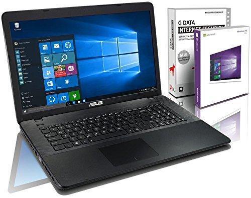 ASUS (17,3 Zoll) Notebook (Intel N3050 Dual Core 2x2.16 GHz, 8GB RAM, 750GB S-ATA HDD, Intel HD Graphic, HDMI, VGA, Webcam, USB 3.0, WLAN, DVD-Brenner, Windows 10 Professional 64-Bit) #5051