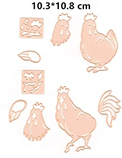 Easter Hens Chicken Cutting Dies for Card Making Metal Cut Dies 3D Stencil Mould Template for DIY Decorative Embossing Photo Scrapbook Album Paper Letter Craft Compatible Die Cutting Machine