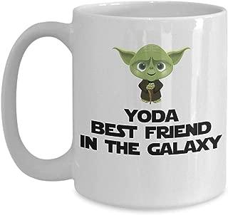 Yoda Best Friend In The Galaxy Funny Coffee Mug Gift For BFF Friend Birthday Gift