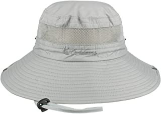 Fishing Sun Hat UPF 50+ Wide Brim Bucket Hat Packable Boonie Hat for Safari Hiking Beach Golf - UV Protection, Sun Protective