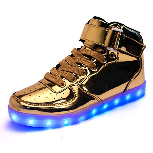DoGeek Unisex Adulto Scarpe LED Luminosi Sneakers con Luci Accendono Scarpe Uomo/Donne Sportive Scarpe LED (Adatto Anche ai Adulto e Bambini)