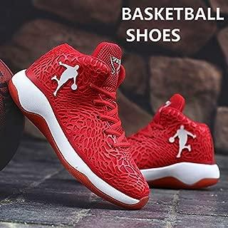 Latest Men's Women`s Performance Sports Shoes AJ Jordan Unisex Basketball Fashion Sneakers(Black & Blue,8.5)