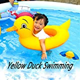 WEILY Inflatable Rubber Duck Pool Float for Kids, Swimming Pool Floats Boat Seats Beach Toy, Kids...