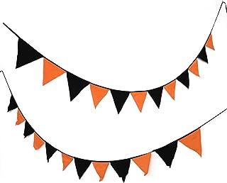 عام 2 قطعة راية مثلثة مبتكرة من القطن لتزيين الحفلات مثلث العلم لساحة المنزل كرنفال حزب الدعائم