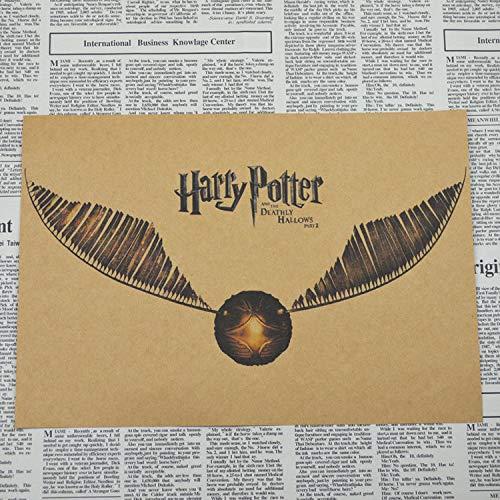 Póster Vintage Harry Potter Póster Dormitorio Comedor Decoración Pintura 50 * 36...