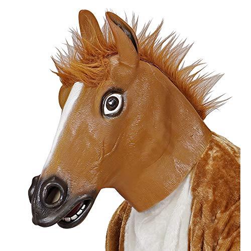 Widmann Ganzkopf Maske Pferd mit Plüschhaar