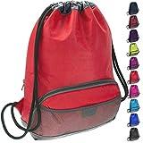 ButterFox - Mochila impermeable para deportes de natación, gimnasio, baile, mochila con cordón, mochila para niños, hombres y mujeres, tela exterior impermeable, Red With Handle