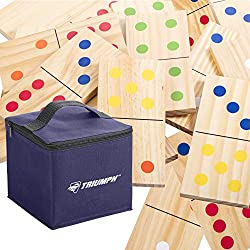 Jumbo Lawn Games: Dominos. Backyard games for kids, teens and adults.