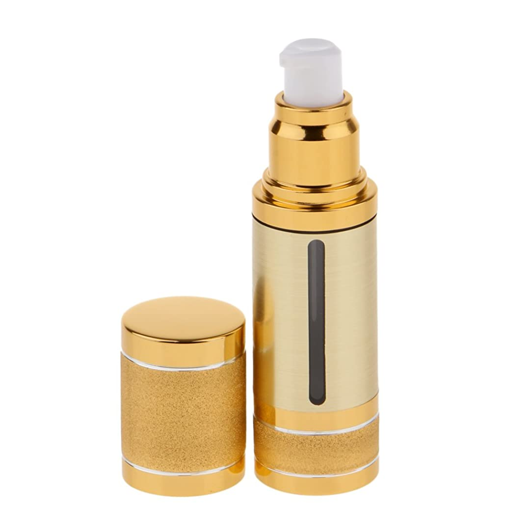 強いねじれミュートFenteer ポンプボトル 空ボトル エアレスボトル 30ml 化粧品 詰め替え 容器 DIY 2色選べる - ゴールド