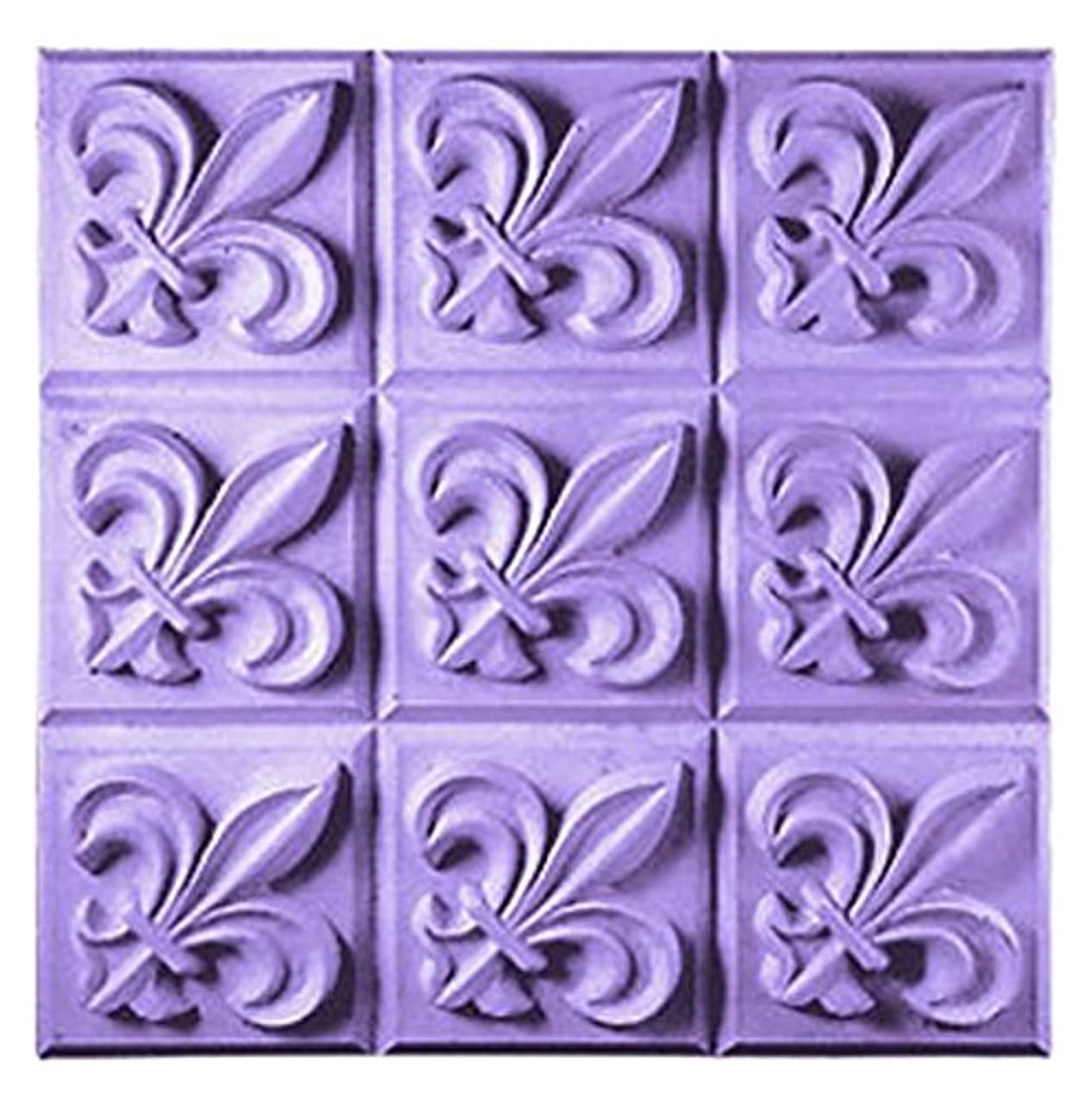 CybrTrayd Fleur de Lis Mold in Sealed Poly Bag, with Richly Illustrated 44-Page Soap Molder's Guide