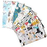 Picheng Stoffbündel mit niedlichen Tieren, Katzen, Hunde,