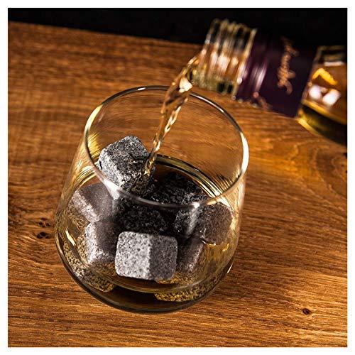 Whisky-Steine Geschenkset, 9er Set Whisky-Steine Kühlsteine aus Natürlichem Speckstein für Getränke mit Stoffbeutel Whiskey Rocks Eissteine Cooling Stones Eiswürfel, Wiederverwendbare Kühlsteine - 7