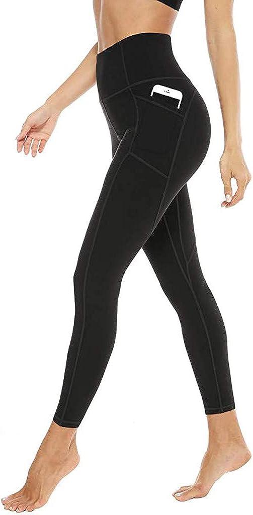 Hotkey Yoga Pants for Women, Tummy Tightening Tights Butt Lift Running Trousers Workout Pocket Yoga Leggings