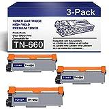CompatibleTN660 High Yield TonerCartridge forTN-660 InkCartridgeReplacementforBrother HL-L2300D L2305W MFC-L2680W L2685DW DCP-L2520DW L2540DW Printers (3-Black).