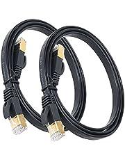 EalonaイーサネットケーブルファストフラットCAT7 LANネットワークパッチケーブルSnagless RJ45 for PS4 Xboxルーター