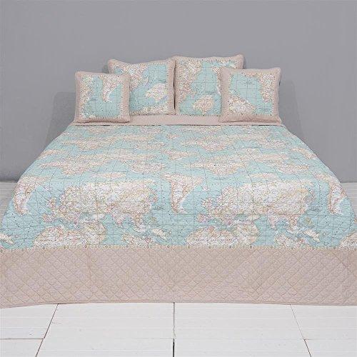 Clayre & Eef Q178.061 Bedsprei, sprei, beddeken, 230 x 260 cm