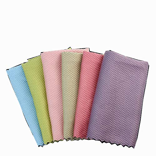Dish Cloths Cleaning Cloths Creative Fish Scale Shaped Design Rags Ultra Absorbent Kitchen Cleaning Tablecloth Cleaning Supplies