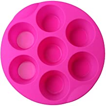 Kaqkiasiog 7 Cavity Egg Bite Mold Silicone Muffin Pudding Mould Bakeware Round Cup Cake Pan Baking Pancake Tray Muffin Tin...
