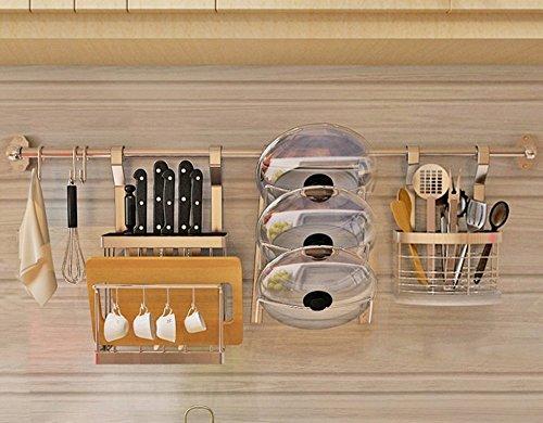 ILQ En Acier Inoxydable Meuble de Cuisine Murs Mur Accroché Fournitures de Cuisine Fournitures Lave-vaisselle Bol Dressing Outil Titulaire De Stockage Pendentif Pendentif,GG