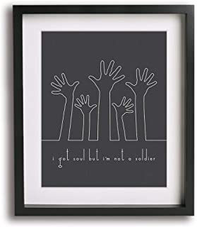 All These Things That I've Done by The Killers inspired song lyric art print