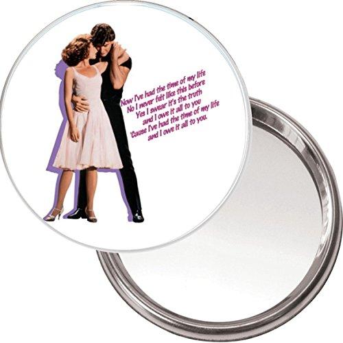 Botón espejo «Having the Time of my Life» con una imagen de Patrick Swayze bailando con Jennifer Grey de la película Dirty Dancing.