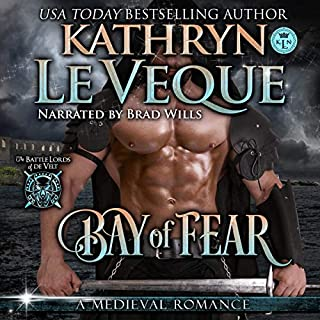 Bay of Fear     Battle Lords of De Velt, Book 3              By:                                                                                                                                 Kathryn Le Veque                               Narrated by:                                                                                                                                 Brad Wills                      Length: 6 hrs and 31 mins     18 ratings     Overall 4.7
