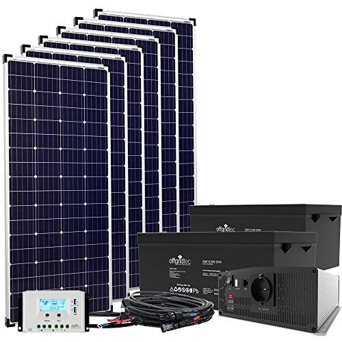 24V Offgridtec© Autark XXL-Master 1080W Solar - 2000W AC Leistung Solar Inselanlage Garten