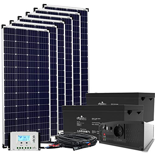 Offgridtec® 24V Solaranlage Autark XXL 1040Wp Solar - 2500Wp AC Leistung 230V