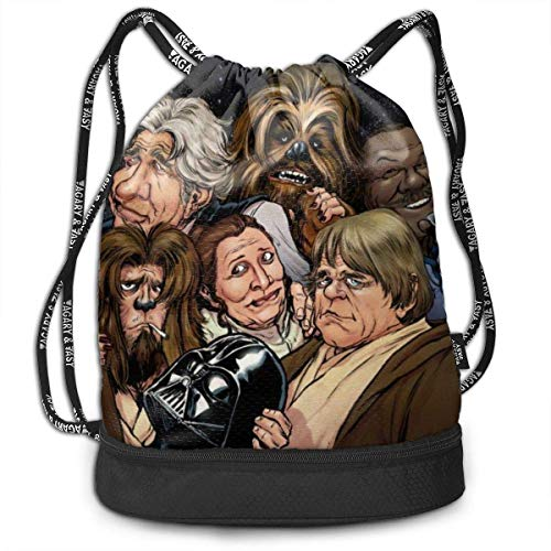 Star Wars Drawstring Bags Multifunction Bundle Backpack Large Capacity Lightweight Simple Portable Funny Handbag,for Women Kids School Gym Travel (Polyester)