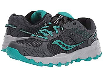 Saucony Women s Grid Raptor TR 2 Running Shoe Charcoal/Teal 8.5