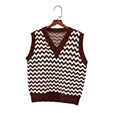 Ethnic Boho Mujeres Tops Tops Sptring Punto Suéter Chaleco Sin Mangas Moda Coreana Jersey Outwear Outwear Color 8 Einheitsgröße