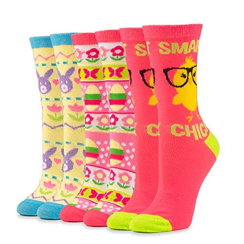 Product Image 1: Easter Crew Socks, Chicks/Bunny Fair Isle/Easter Fair Isle Socks (3 Pack)