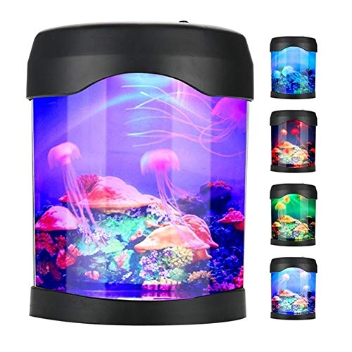 Creative Sea World LED Multi Colored Swimming Jellyfish Tank Simulation Mood Lamp Home Decor